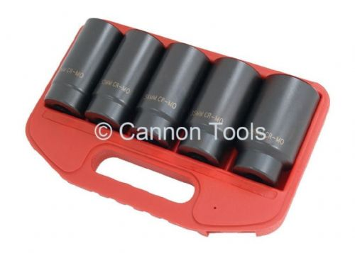 5Pc 1/2 Inch Drive Hub Nut Socket Set 30 . 32 . 34 . 35 . 36 Mm